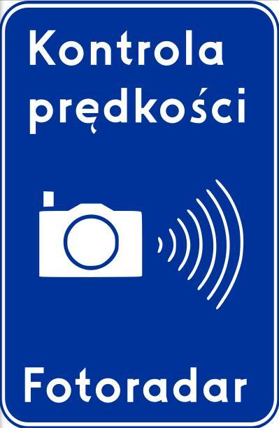 znak kontrola prędkości